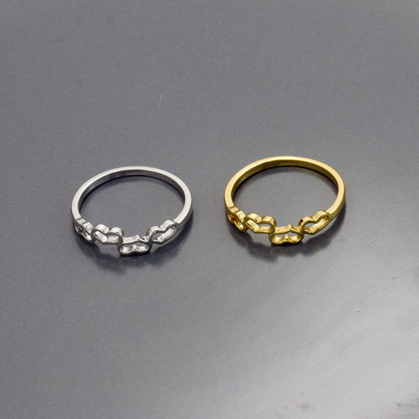 Wholesale 10pcs/lot Romantic Hearts Rings For Women Anel Bauge Homme Bulgaria Jewelry Gold Filled Wedding Rings Bridesmaid Gifts