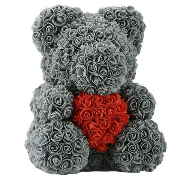 40cm coeur gris