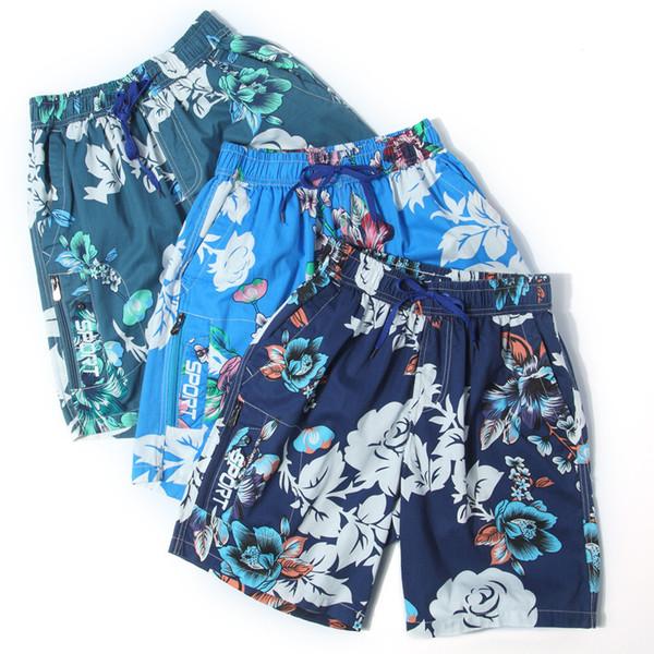 Moda Tasarımcısı Şort Yeni Yaz Rahat Gevşek erkek Pantolon Yeni Nefes Çiçek Baskı Plaj Tatil Şort Erkekler için Giyim L-3XL