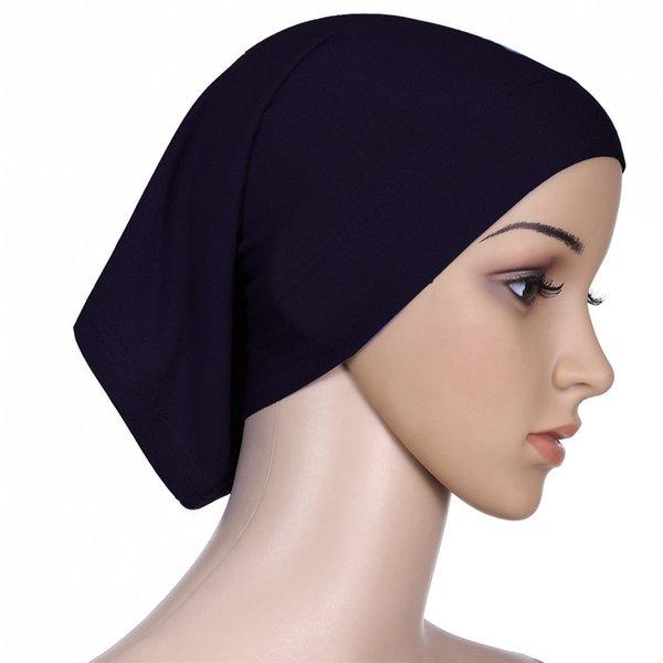 Müslüman Kadınlar Başörtüsü Eşarp İç Başörtüsü Başörtüsü Kap İslam Tam Kapak İslam Rahat Katı Şapka Bufandas Invierno Mujer # SL