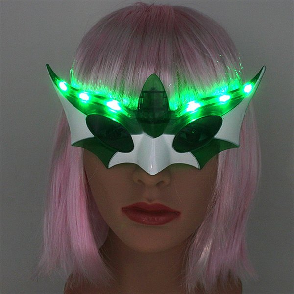 Glasses Halloween Neon scary masks Costume Party Easter Bar Decoration Luminous Facepiece Blue Green Red Fashion Bardian Popular Mask 5ccD1