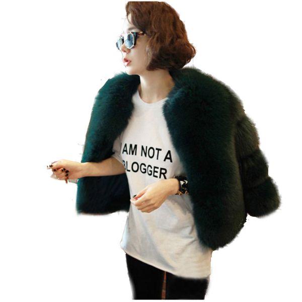 2019 new fur fur coat short high-end fashion slim temperament female coat