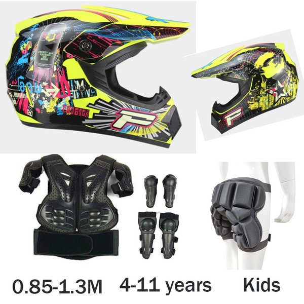 top popular Height 0.85-1.3M Child Moto Body Protect Armor Cycling Riding DH MX Mountain bike Knee Elbow Guard Kids helmet 2020