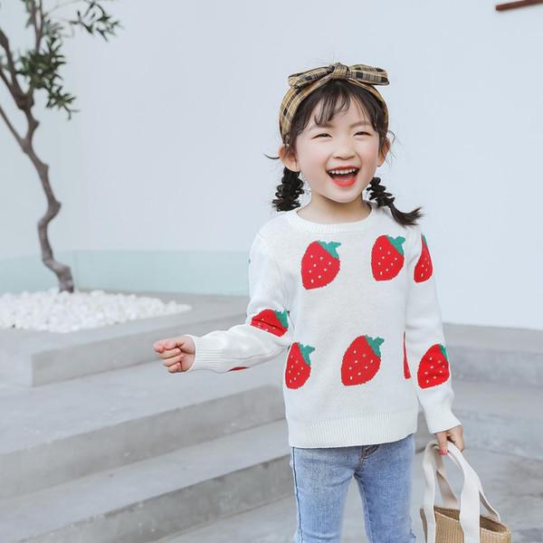 2019 família roupas de natal família olhar mãe combinando roupas camisola de algodão dos desenhos animados adorável morango