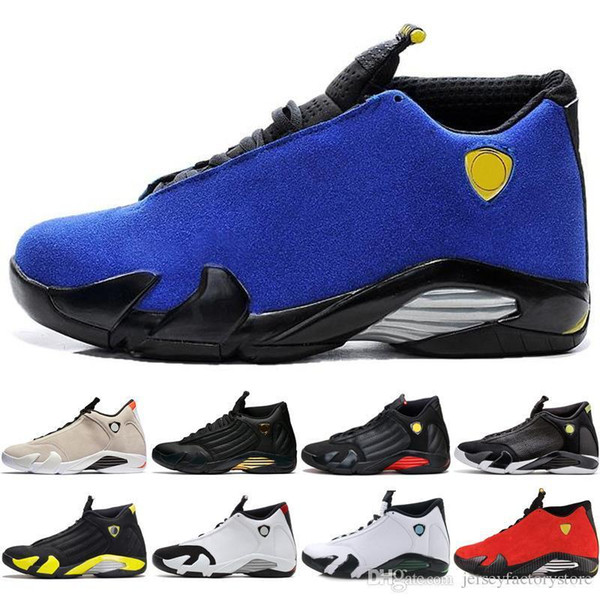 14 Hot 14s mens Basketball Shoes Desert Sand DMP Last Shot Indiglo Thunder Blue Suede Oxidized Grey White mens Sports Sneakers designer
