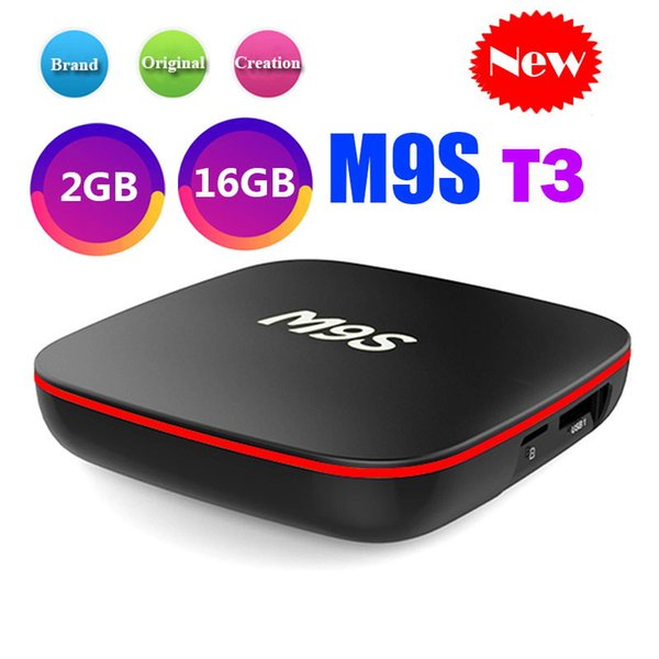 Bester M9S T3 Allwinner H3 2GB 16GB Android 7.1 TV-BOX-Viererkabelkern Ultra HD H.265 4K Stream Media Player Besseres Amlogic S905W H96 TX3 X96 X92
