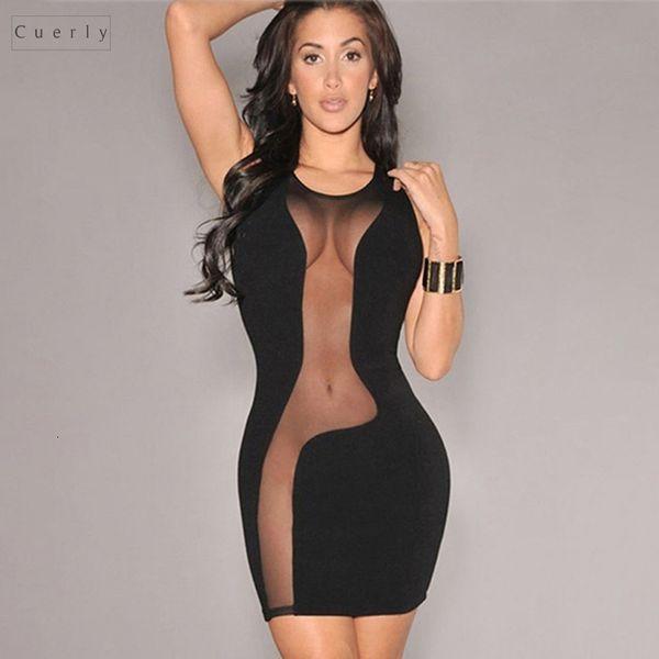 See 2019 Dress Through Sleeveless Summer Club Bodycon Women Dresses Mesh Beach Women Black Evening Party Sexy Mini Designer Clothes