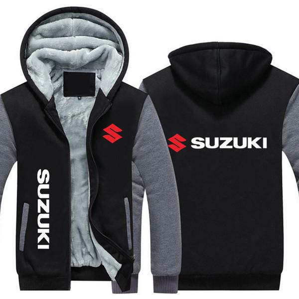 SUZUKI Kış Coat Marka Arabalar Logo Kalınlaşmak Polar Ceket Kış Süper Sıcak Kazak Hırka Ceket Spor Hoodie ABD, AB Boyutu