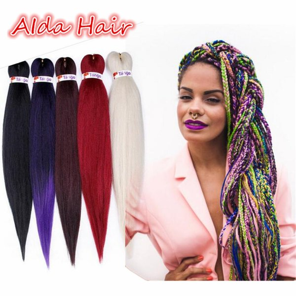 Ombre Crochet Brading Hair For DIY Easy Braid Box Braids 20 26inch Soft Perm Yaki Straight Kanekalon Havana Jumbo Briads