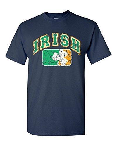 Paint Print Cheap T ShirtVintage Irish Flag Shamrock T-shirt Saint Patrick's Day Shirts100% Cotton Custom Made Tee Shirts