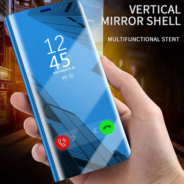 For Oppo Reno-Z 6.6 6.4 Realme-C2 3 2 K3 Find X F5 11 Pro A 83 71 7 1+7 1+6 Pro R11 Clear Mirror Flip Sensing 360 Full Protective Phone Case