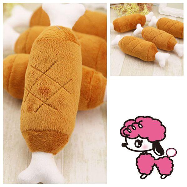 top popular 20cm Chicken-legged Dog Voice Toy pet dog Toys Decompression Toy Bite-resistant Chews Tai dog supplies Pet SuppliesT2I5470 2021