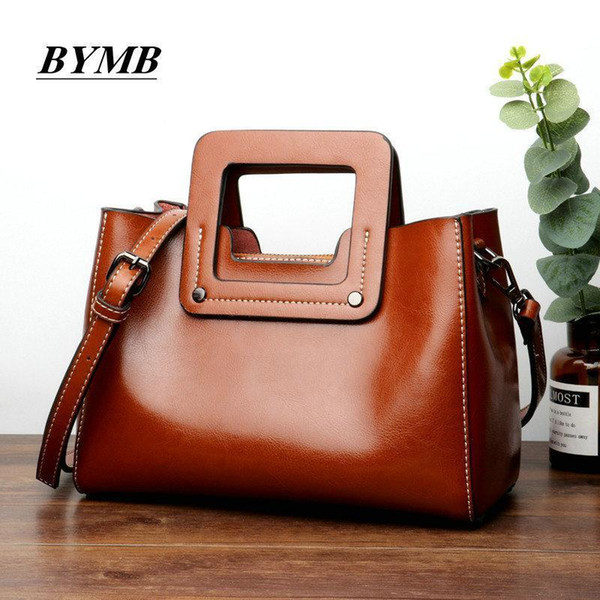 Nice Fashion Lady Hand Bag Womens 100% Genuine Leather Handbag Cowhide Leather Tote Bag Bolsas Femininas Female Shoulder