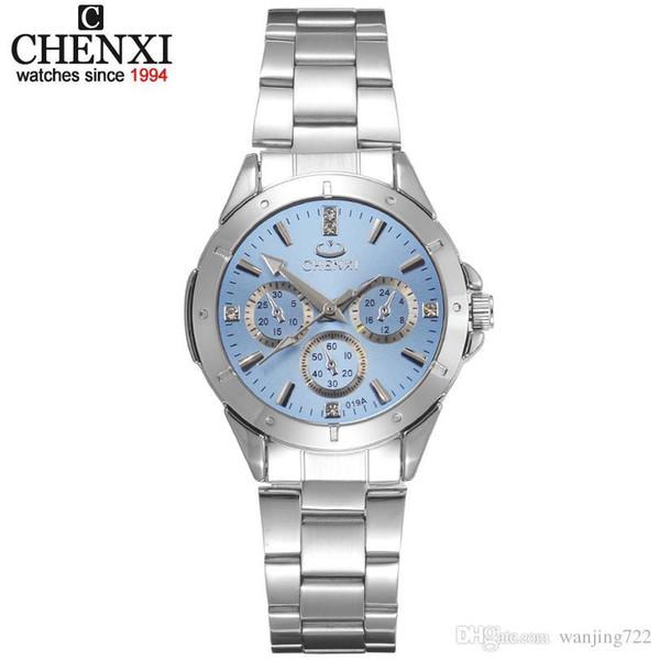 CHENXI Mulheres Moda Relógios Das Senhoras Relógio de Quartzo das Mulheres Vestido Elegante de Aço Inoxidável Relógios De Pulso À Prova D 'Água Menina Relógio Relojes Mujer