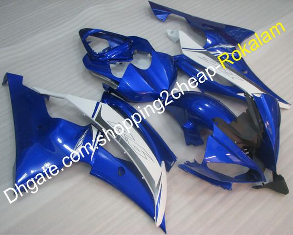 Para carenado Yamaha YZF 600 R6 YZFR6 YZF-R6 08 09 10 11 12 13 14 16 Kit de carenados de moto azul blanco (moldeo por inyección)