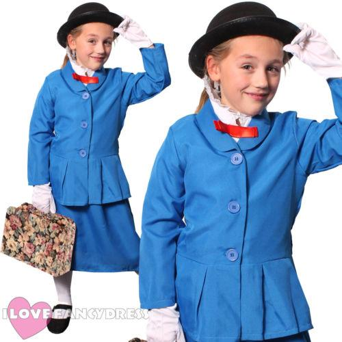 ENFANT MARY POPPINS GIRLS VICTORIAN MAGICAL NANNY LIVRE FILM FILM MOVIE HALLOWEEN COSTUME LIVRE PERSONNAGE VICTORIAN FANCY ROBE COSPLAY
