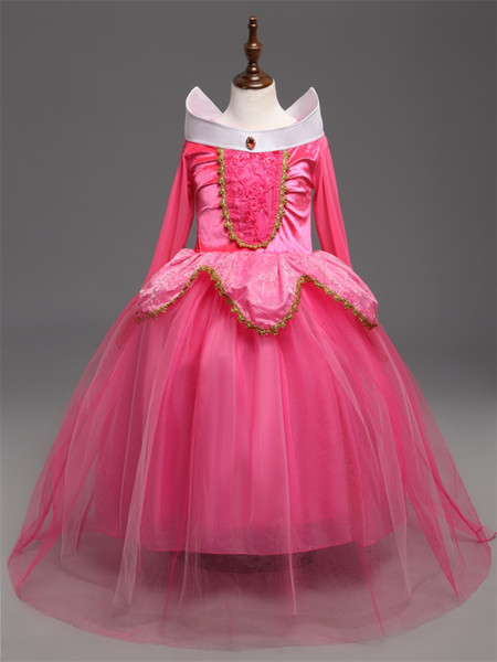 4-10Years Cinderella Dress Girls Easter Party Sleeping Beauty Princess Dresses Rapunzel Carival Cosplay Costume For Kids XF100