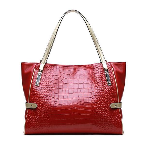 Nice Pop Vintage Womens Handbag Genuine Leather Shoulder Bag Large Capactity Casual Tote Bag Real Cow Leather Lady Handbags
