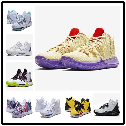 Kids kyrie 5 ikhet boys shoes for sales free shipping hot Irving 5 Basketball shoes store With Box US4-US12