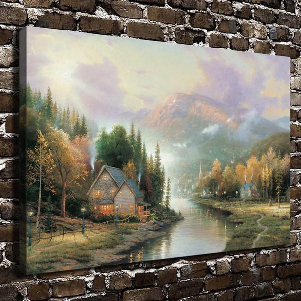 Simpler Times I,Home Decor HD Printed Modern Art Painting on Canvas (Unframed/Framed)