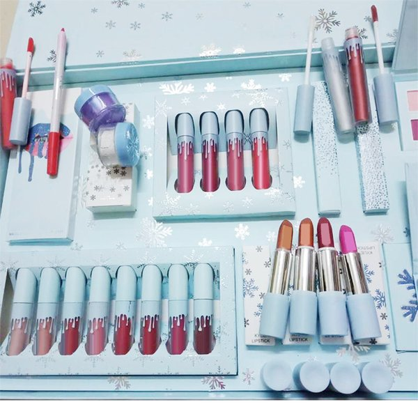 Christmas Gift Sets 2019.2019 Newest Makeup Sets The Holiday Collection Liquid Matte Lipsticks Kit Eyeshadow Palette Gloss Highlighter Christmas Gift Kit Professional Makeup