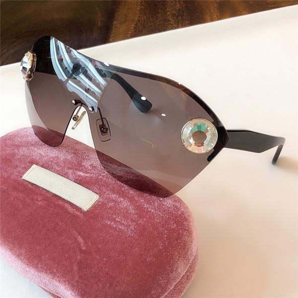 Новый топ качества 68 Мода большие связные объектив женщин солнцезащитные очки с благородный камень SunGlass защиты UV400 солнцезащитные очки очки приходят с случаем