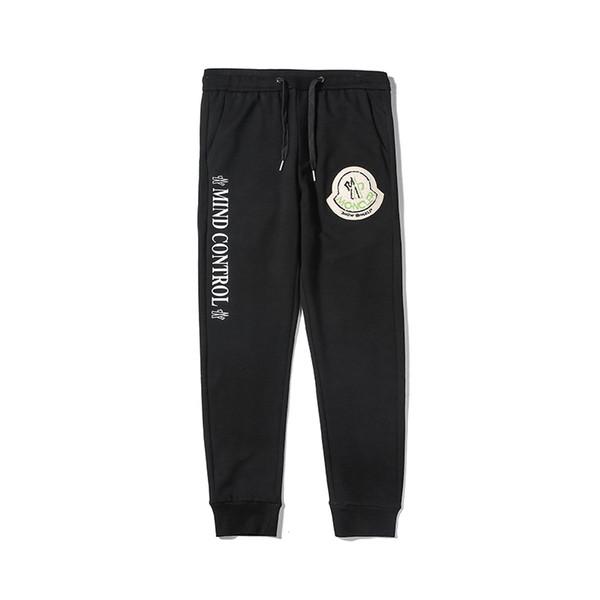calientes 2018 nuevos hombres y mujeres de lujo de alta calidad de carta pantalones de diseño del basculador de los pantalones de los pantalones de las correas abrigo de otoño marca deportiva M-2XL