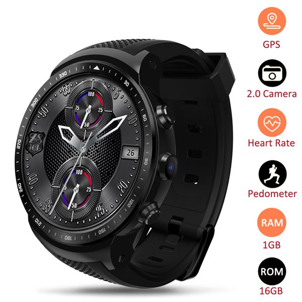 Thor PRO Men Watch 3G GPS WIFI Smartwatch Android 5.1 MTK6580 Quad Core 1GB 16GB 2.0 MP Camera Heart Rate Monitor Smart Watch