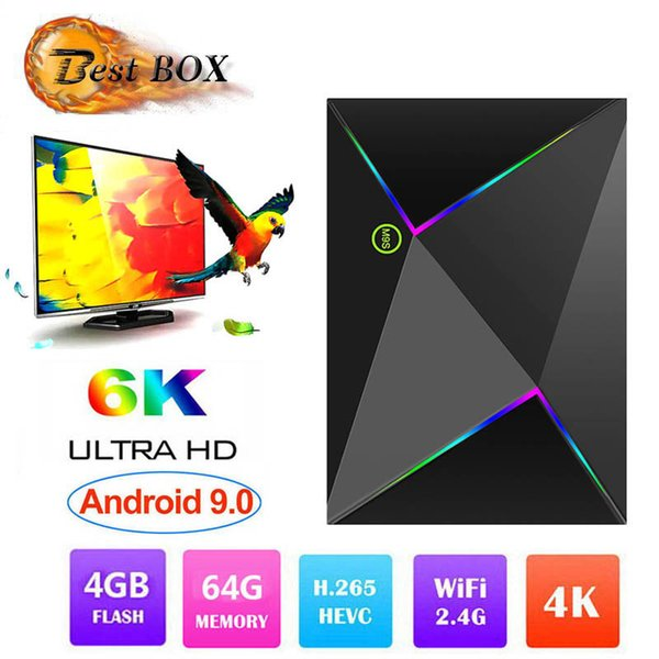 Best sellers M9S Z8 Android 9.0 TV Box With H6 Quad Core CPU 4GB 32GB 64GB Streaming Media Player Support 2.4G Wifi Better S905X2 RK3328