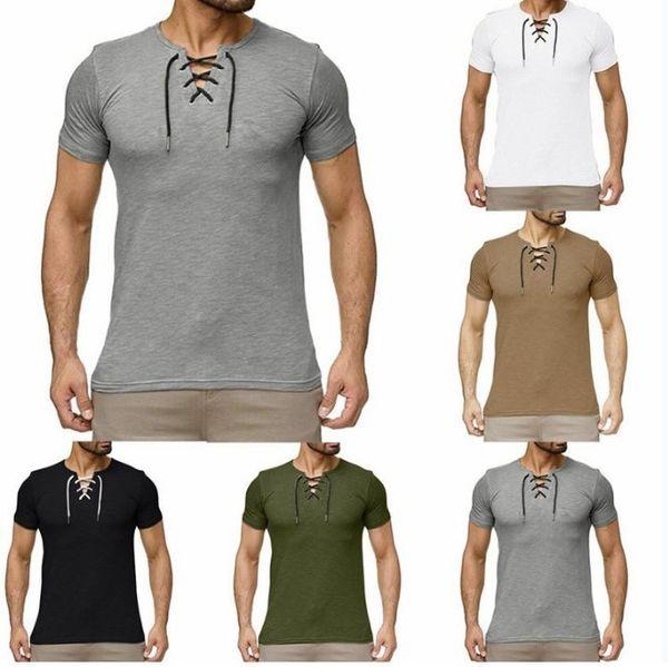 Mens Yaz Tshirt Askı Kısa Kollu Sıcak Satış Erkek Tee 5 Renkler ile Asya Boyutu M-3XL