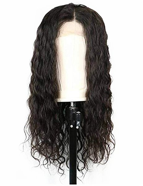 "Free Shipping Loose Curly Wavy Lace Front Wigs 180% Density Long Synthetic Wigs with Baby Hair for Black Women(20""Natural Black)"