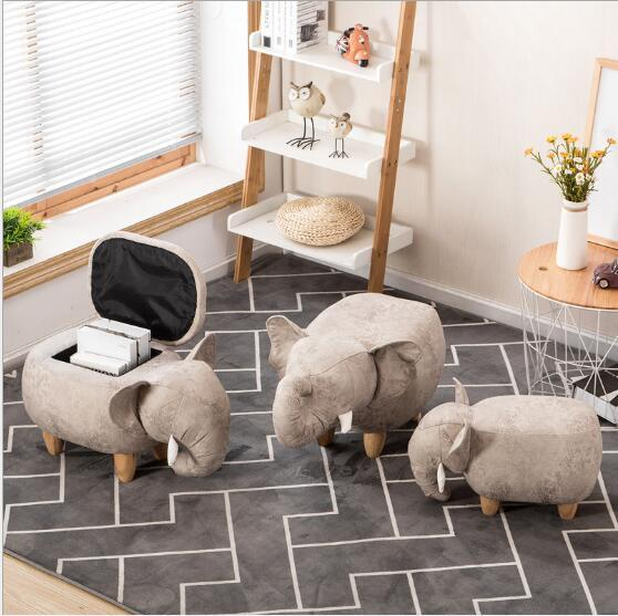 best selling Storage Stool Shoes Elephant Changing Living Room Sofa Foot Chair Cloth Package Wooden Modern Stools New Arrival Furniture