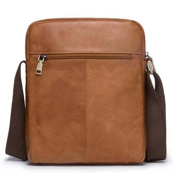 En cuir véritable homme épaule seul paquet Oblique Mode Satchel Loisirs Temps Homme messenger hommes Sac porte-documents Livraison gratuite