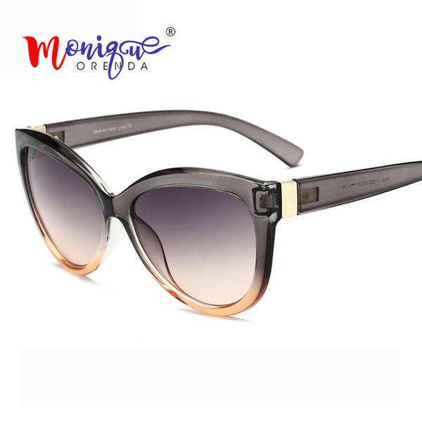 Olho De Gato do vintage Óculos De Sol Das Mulheres Tendência de Luxo de  Luxo Gradiente 144ed327ee