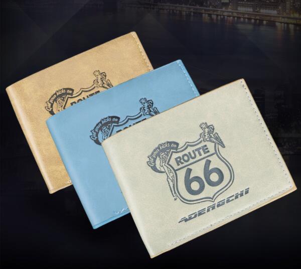Echtes Leder Brieftasche Fashion Style Short Geldbörsen für Männer mit zwei Scheinfächern Luxus MB Brieftasche