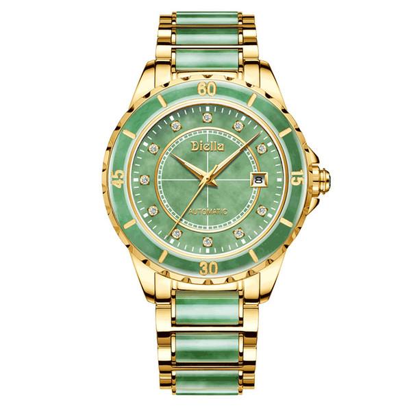 Hellgrüne Uhr