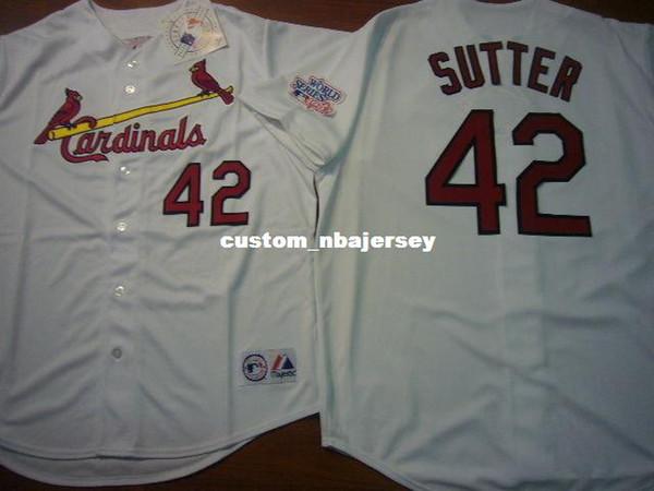 Cheap custom 1982 BRUCE SUTTER Baseball Jersey New Stitched Customize any name number MEN WOMEN BASEBALL JERSEY XS-5XL