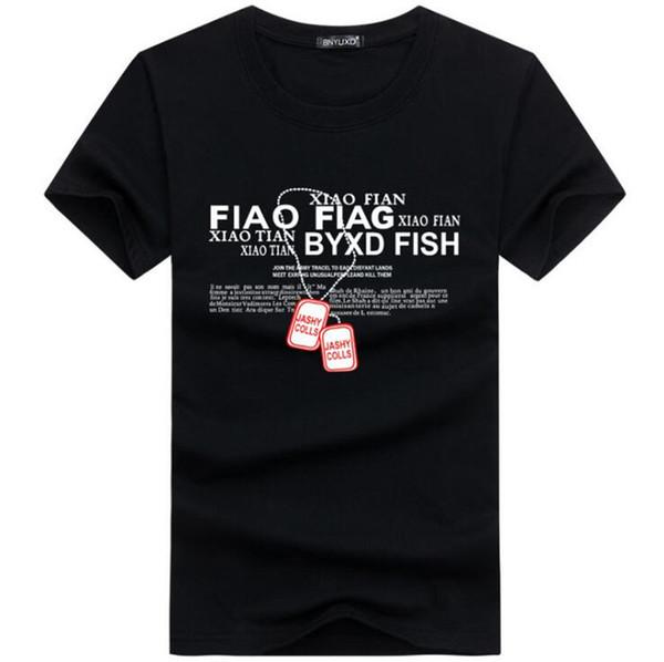 Date 2019 D'été Hommes T-Shirt Marque De Mode Impression Coton T-shirt Hommes Tendance Occasionnelle À Manches Courtes T-shirt Tops Tee BY5
