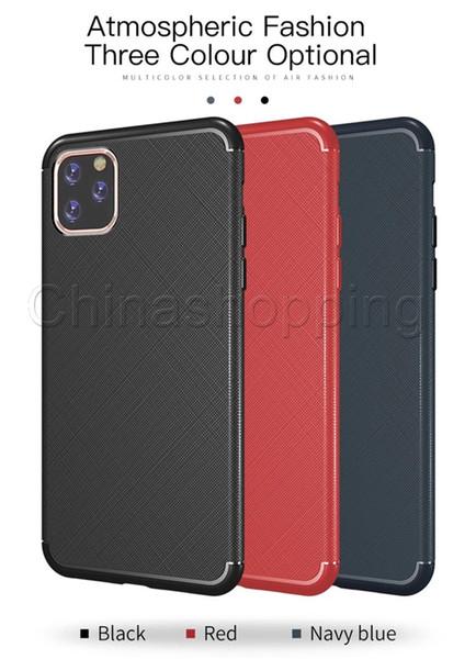 Macio TPU Fino Shell Silicone Protector Cases capa para o iPhone 11 Pro X Xs Max Xr 6 7 8 Plus Para Samsung S10 S9 S8 Plus Nota 10 9