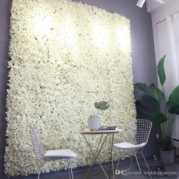 60X40cm Artificial Hydrangea Flower Wall Photography Props Home Backdrop Decoration DIY Wedding Arch Flowers Free Shipping