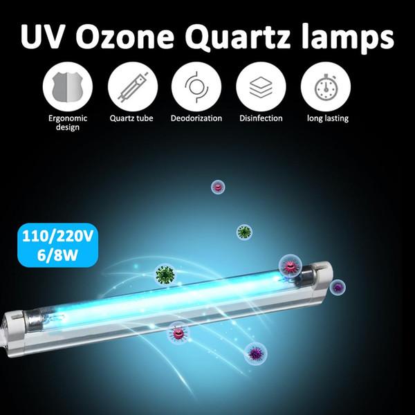 best selling 6W 8W UV LED lamp Germicidal Sterilizer 110v 220v Ultraviolet Quartz linear Light Ozone Generator Disinfection Deodor Bar Tube