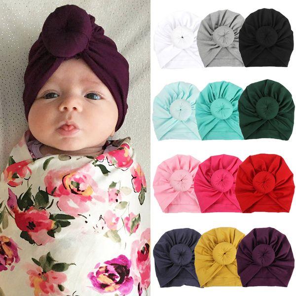 Baby Toddler Kids Boys Girls Turban Warm Cotton Beanie Hat Cap Headwear Hot