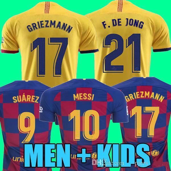 MAN + KIDS 2019 2020 Fußballshirt GRIEZMANN MESSI Trikots 19 20 Trikots Fußballtrikots Fußballtrikots