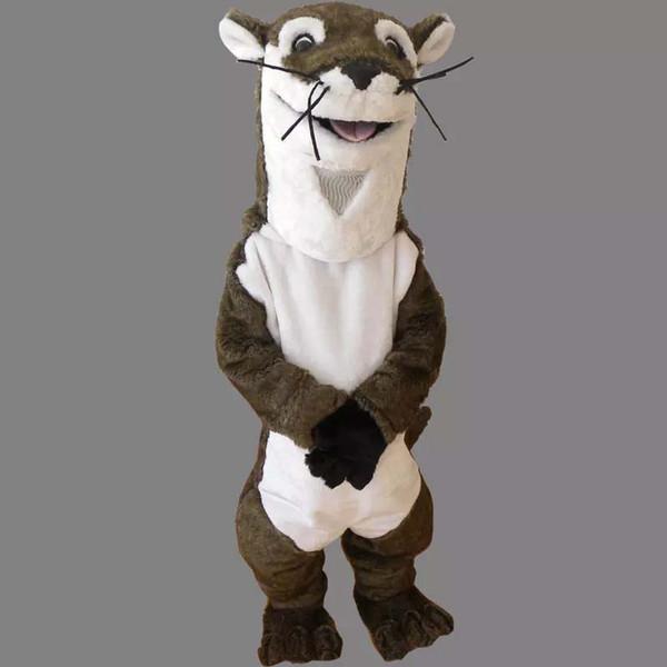Personnage professionnel personnage animal de dessin animé de costume de mascotte de hamster brun Vêtements Festival d'Halloween de fête Costume