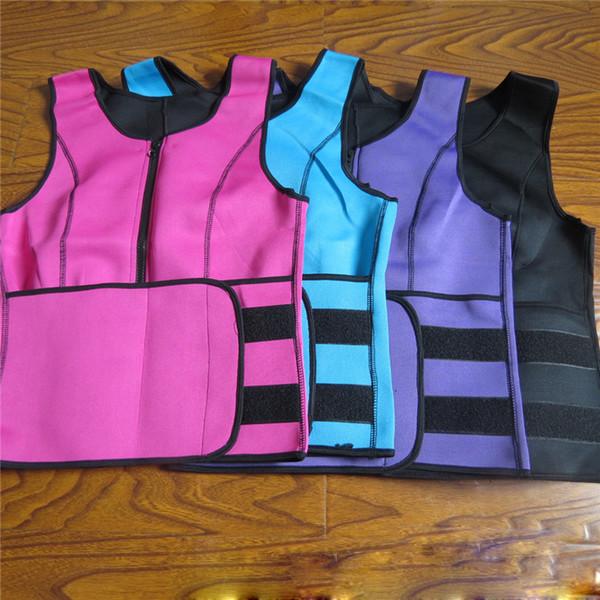 Неопрена Body Shaper Женщины похудения Vest Thermo Фитнес тренер неопрена Сауна Тепло Vest Регулируемая талия Trainer Пояс Body PLUS SIZE A42307