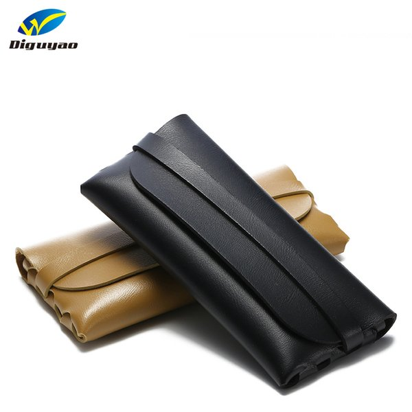 New Soft PU Leather Sunglasses Case Women Big Size Eyeglasses Box For Men Eyewear Protector Hand Take Spectacle Case
