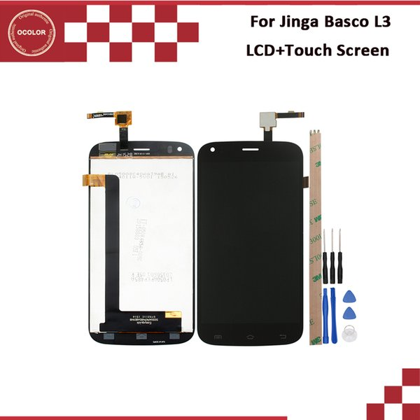 ocolor For Jinga Basco L3 LCD Display And Touch Screen 5.0'' Tested For Jinga Basco L3 Phone Accessories With Tools And Adhesive