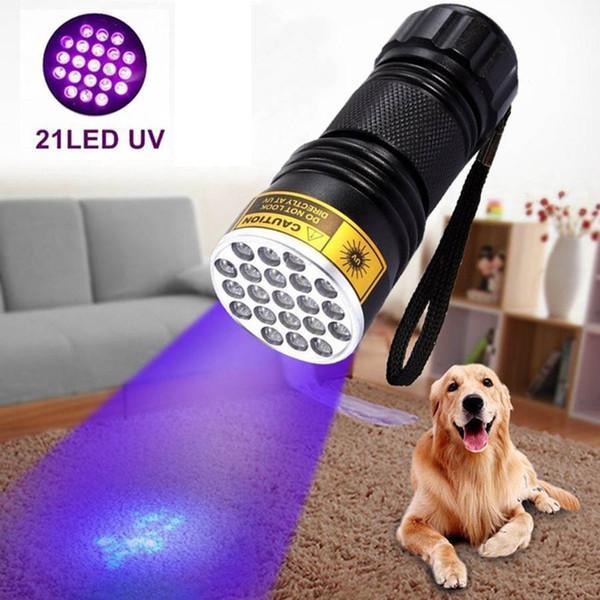 21 Torcia a LED UV 395-400nm Lampada a torcia a luce ultravioletta Adesivo UV Polimerizzazione Sicurezza di viaggio Rilevazione UV