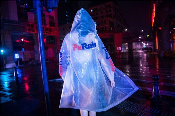 Casaco de chuva Dos Homens Designer de Moda Casacos de Manga Longa Chapéu Estilo de Rua Homme Vestuário Cor Sólida Casual Vestuário
