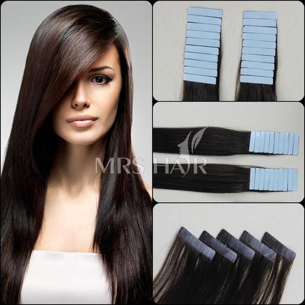 Бразильского Виргинские Реми ленты в Entensions человеческих волос ленты бесшовные утка кожи длинные прямые шелковистые ленты в наращивание волос